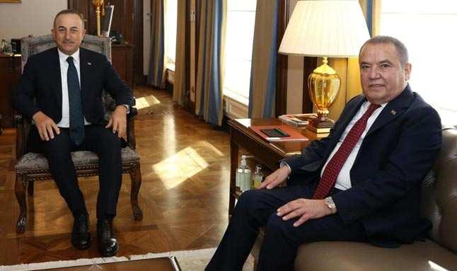 Antalya Belediye Başkanı Muhittin Böcek'ten, Bakan Mevlüt Çavuşoğlu'na teşekkür ziyareti