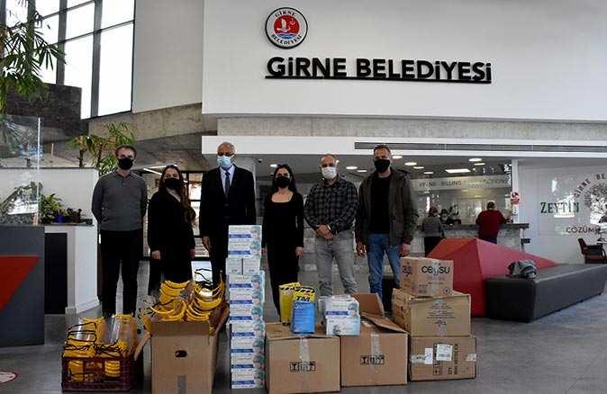Muratpaşa Belediyesi'nden kardeş kent Girne'ye destek