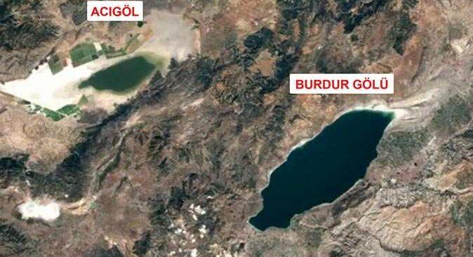 Göllerdeki kuraklık 36 yıllık fotoğraflarla tespit edildi