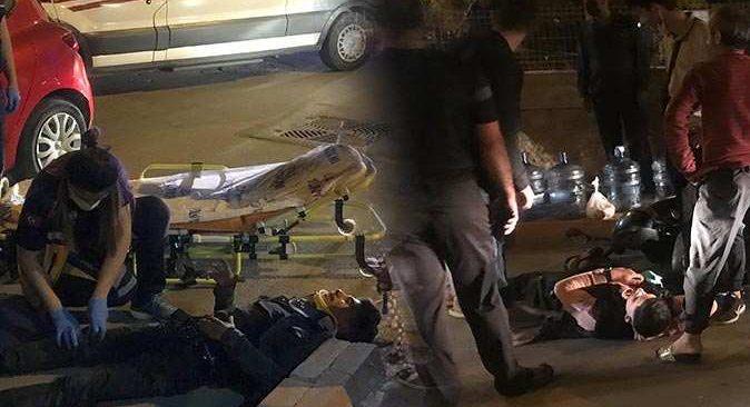 Antalya'da boş yolda feci kaza! Ölümden döndüler