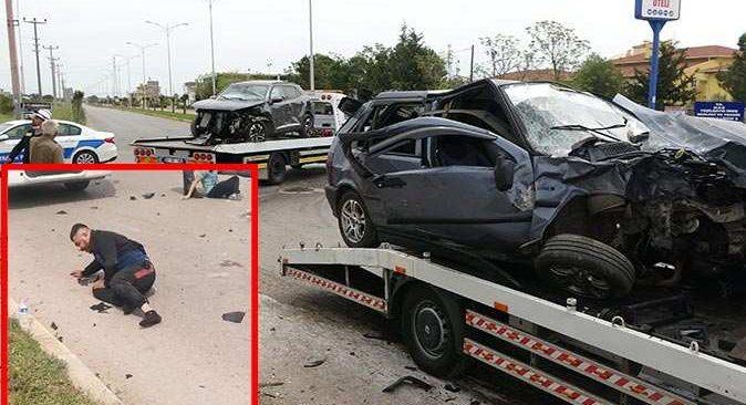 Antalya'da lüks cip ile otomobil çarpıştı! Çok sayıda yaralı var
