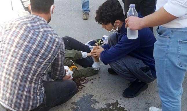 Antalya'da motosikletin çarptığı küçük kız korkudan ağladı