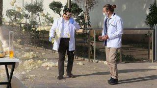 Kepez Belediye Başkanı Hakan Tütüncü yaptığı deneyin azizliğine uğradı