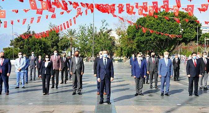 Antalya'da tedbirli 23 Nisan töreni