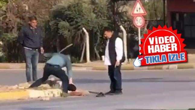 Antalya'da sokak ortasında sırayla dayak! O anlar kameraya kaybedildi