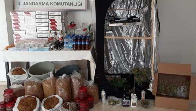 Antalya'da uyuşturucu madde ve kaçak alkol operasyonu