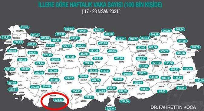 Antalya'da vaka sayısında korkutan artış!