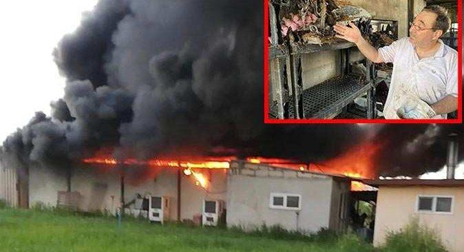 Çekirge üretim merkezinde yangın çıktı! Hasar 2 milyon lirayı buldu