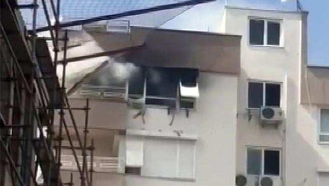 Antalya'da 10 katlı binada korkutan yangın