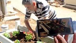 Antalya'da mezarlıklara görüntülü hizmet