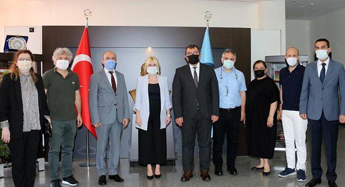 TÜBİTAK Başkanı Prof. Dr. Hasan Mandal, Rektör Prof. Dr. Özlenen Özkan'ı ziyaret etti