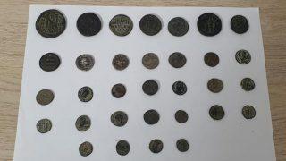 Antalya'da Roma ve Bizans dönemine ait 32 adet sikke ele geçirildi
