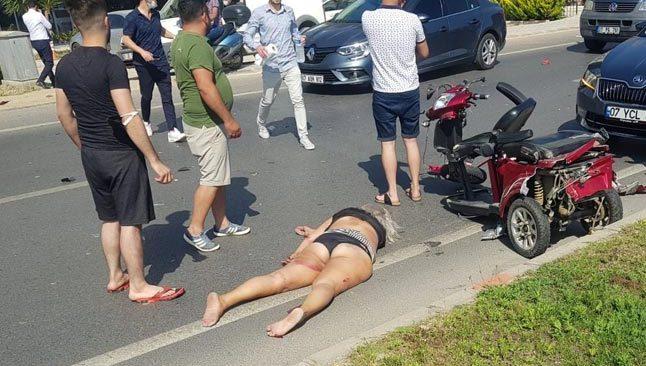 Antalya'da minibüsün çarptığı İsveçli kadın öldü