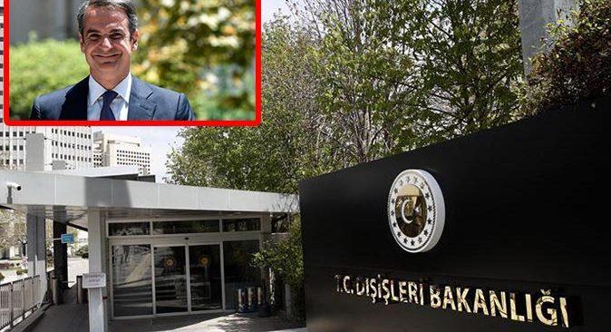 Dışişleri Bakanlığı'ndan Yunanistan Başbakanı Kiryakos Miçotakis'in açıklamalarına sert tepki
