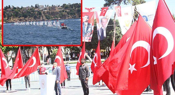 Antalya'da 19 Mayıs coşkusu! Görsel şölen yaşandı