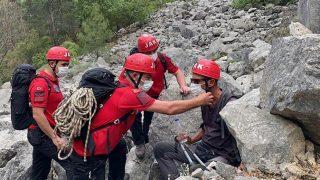 Kayıp turist 7 saat sonra kurtarıldı
