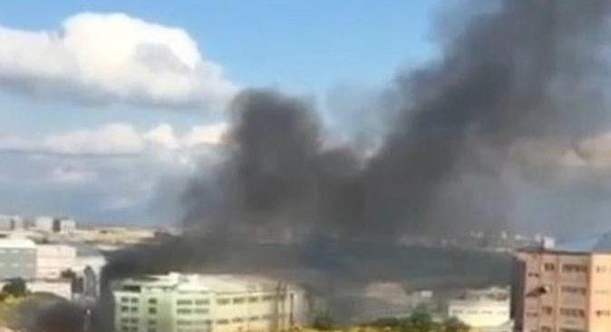 Kumaş fabrikasında yangın çıktı