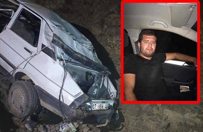 Yayla yolundaki kazada Mustafa Yerebakan hayatını kaybetti