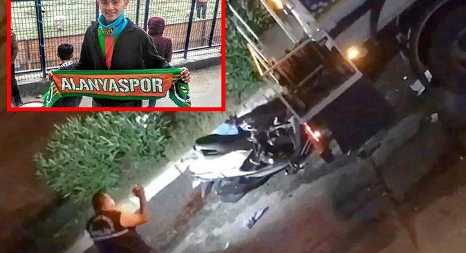 Alanyaspor taraftarı Burak Çınar feci kazada hayatını kaybetti