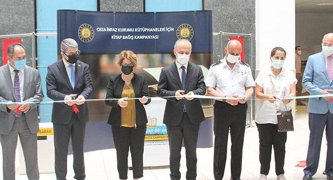 Ceza İnfaz Kurumu Kütüphaneleri İçin Kitap Bağış Kampanyası Antalya Adliyesinde başladı