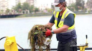 Antalya'da Boğaçayı'nda yaz temizliği