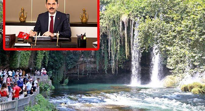 Bakan Murat Kurum Düden Çayı'nın korumaya alındığını açıkladı