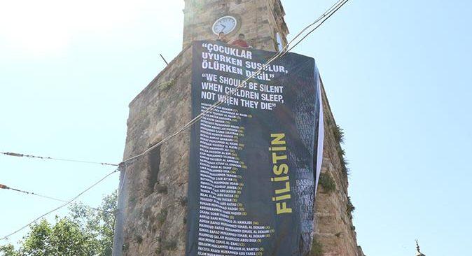 Antalya'dan dünyaya Filistin mesajı: Çocuklar uyurken susulur, ölürken değil