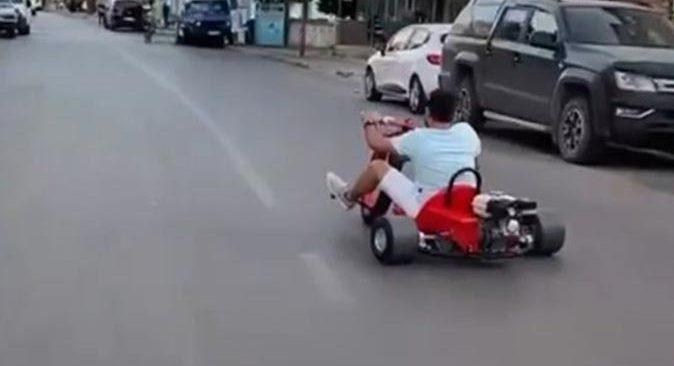 Antalya caddelerinde tur attı, görenler şaşkına döndü