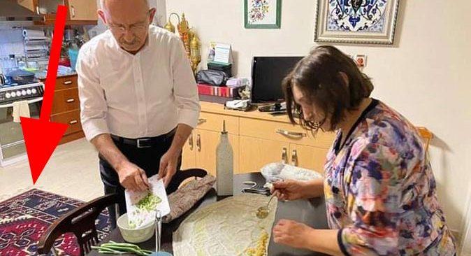 CHP lideri Kemal Kılıçdaroğlu'nun evindeki halı detayı dikkat çekti
