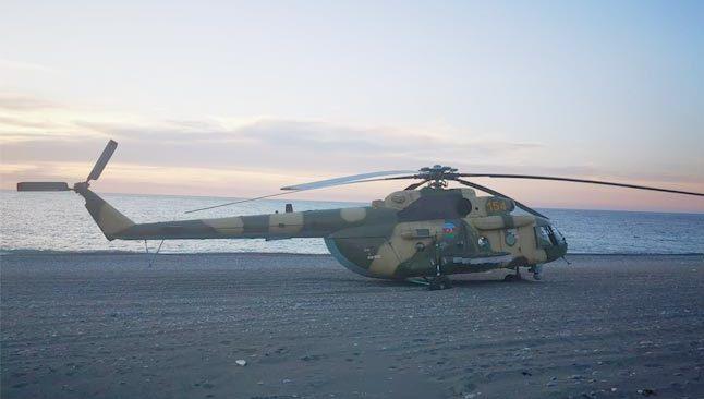 Azerbaycan askeri helikopteri Giresun'a acil iniş yaptı