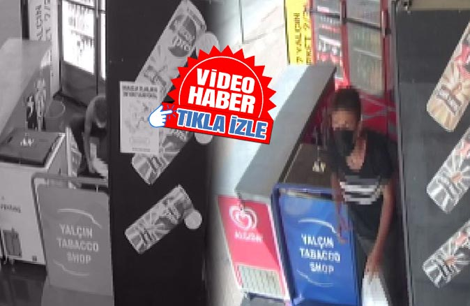 Meşrubat dolabına dadandı, marketçi isyan etti!