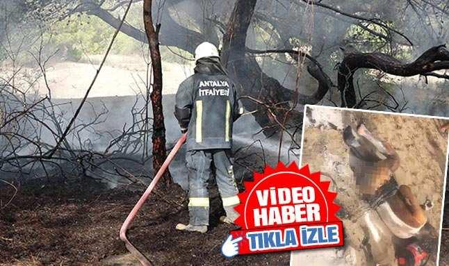 Antalya'da korkunç olay! Bunalıma giren genç hem kendini hem ormanı yaktı