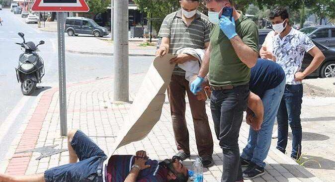Antalya'da hastaneye gitmek isterken kaza yaptı! Yardımına çevredekiler koştu