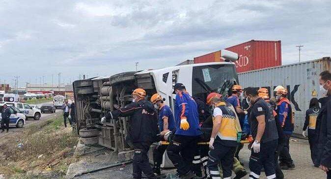 Bursa'da midibüs şarampole devrildi! 26 yaşındaki İlknur Tepeç hayatını kaybetti