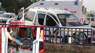 Antalya'da kavşakta feci kaza! Yaralılar var