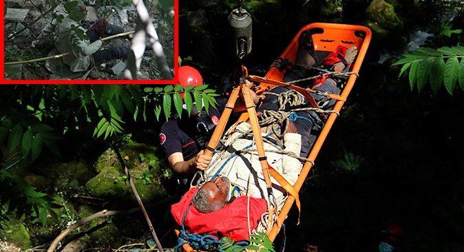 Antalya'da yaşlı adam dere yatağına düştü! Ekipler seferber oldu