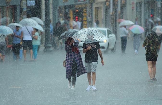 Meteoroloji o illeri tek tek uyardı! Sağanak yağmur uyarısı