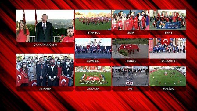 Saat 19.19'da Türkiye tek yürek oldu! 19 Mayıs coşkusu