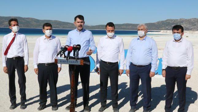Bakan Murat Kurum Salda Gölü'nü inceledi
