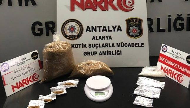 Alanya'da uyuşturucu operasyonu...