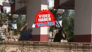 Antalya'da kiracısına kızan adam sopayla etrafa saldırdı