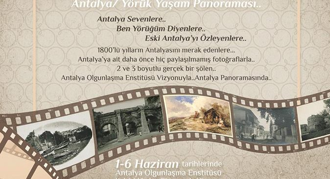 Antalya Yörük Yaşam Panoroması Antalyaseverlerle buluşacak