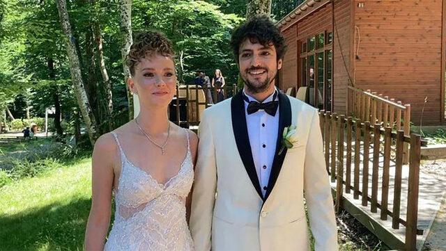Taner Ölmez ile Ece Çeşmioğlu evlendi! İşte düğünden ilk kareler