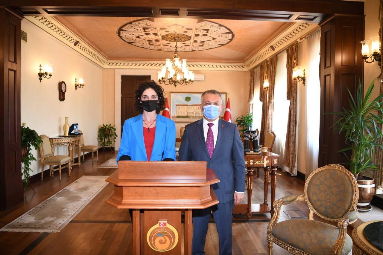 Kosova Cumhuriyeti Spor Bakanı Vali Ersin Yazıcıyı ziyaret etti