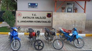 Antalya'da motosiklet fareleri yakalandı