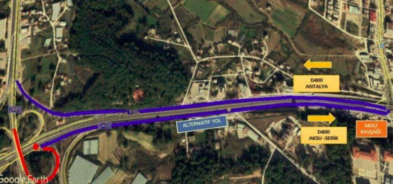 Sürücüler dikkat! Antalya'da o kavşak trafiğe kapatılacak...