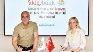 Antalya OSB'de güneşten elektrik üretilecek