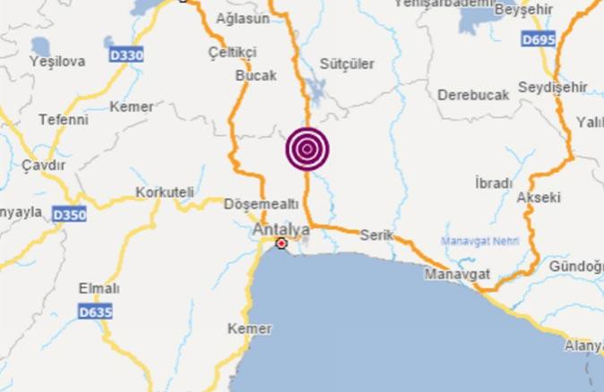Son dakika.... Antalya'da 3.5 büyüklüğünde deprem meydana geldi