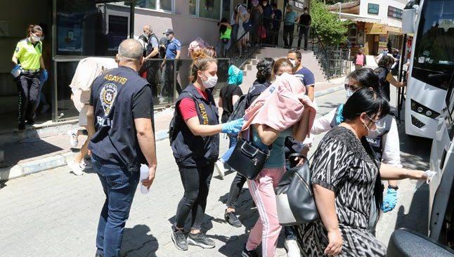 Antalya'nın içinde olduğu 6 ilde insan ticareti operasyonu