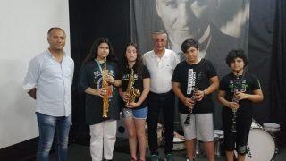 Başkan Necati Topaloğlu, Dünya Müzik Günü'nde öğrencilerle bir araya geldi